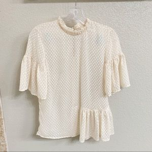 H & M Top Sheer Size 2